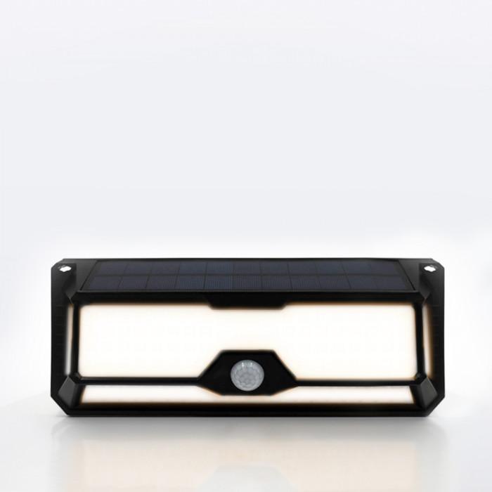 Nightlight ดำ RIN Solar สี่เหลี่ยม 136 LED Warm White
