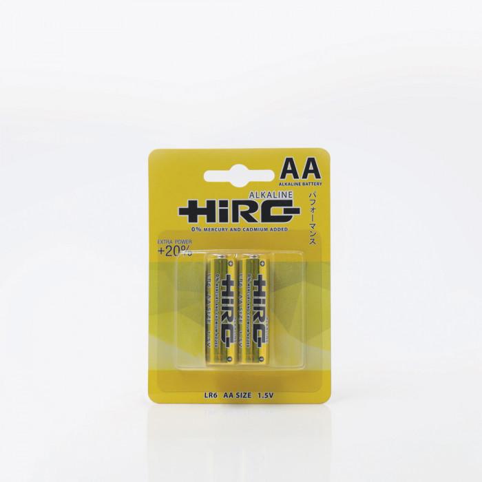 ถ่าน Alkaline ขนาด AA HIRO 2 ก้อน